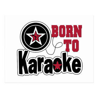 Born to Karaoke Star Postcard