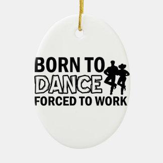 born to line-dance christmas ornament