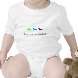 Born to love Dachshunds Baby Bodysuits