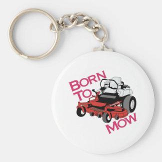 Born To Mow Key Ring
