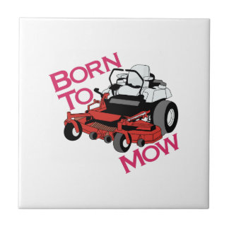 Born To Mow Small Square Tile