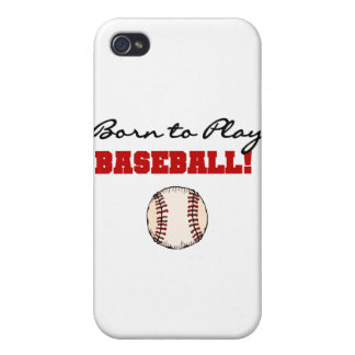 Born to Play Baseball T-shirts and Gifts iPhone 4/4S Case