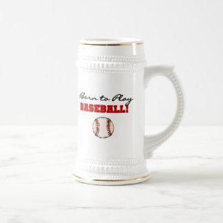 Born to Play Baseball T-shirts and Gifts Mugs
