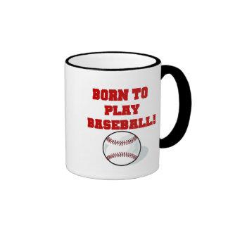Born to Play Baseball Tshirts and Gifts Mug