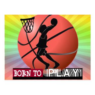 BORN TO PLAY BASKETBALL POSTCARDS