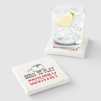 Born to play country stone coaster