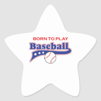 BORN TO PLAY STAR STICKERS