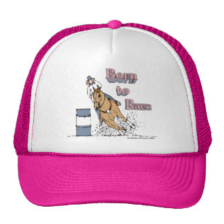 Born To Race Barrel Horse Hat