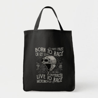 Born To Race Get Fast Cafe Racer Motorcycle Tote Bag