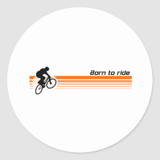 Born to ride - BMX Classic Round Sticker