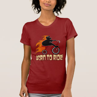 Born To Ride Tricycle Design T-Shirt