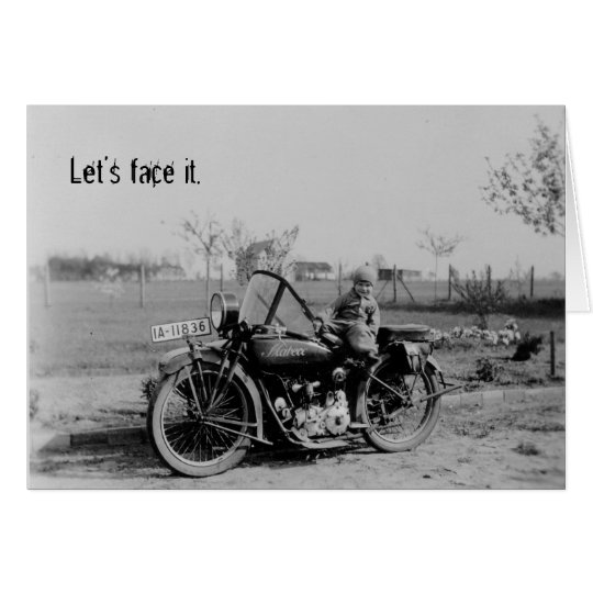 Born To Ride Vintage Motorcycle Birthday Card