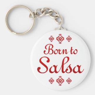BORN TO SALSA KEY RING