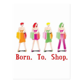 Born To Shop Postcard