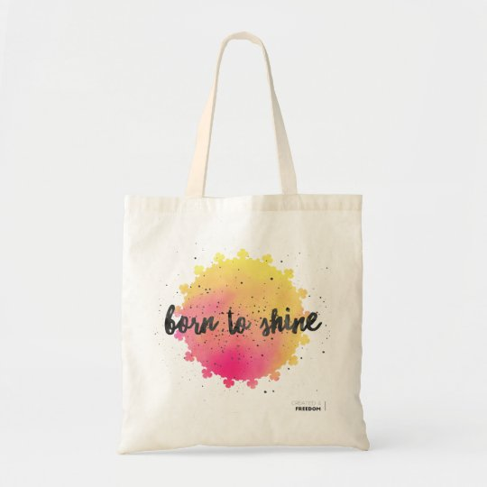 Born to Sine, with sun Tote Bag