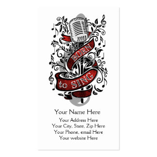 Born To Sing Business Cards