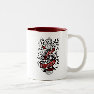 Born To Sing Gifts for the home Two-Tone Mug