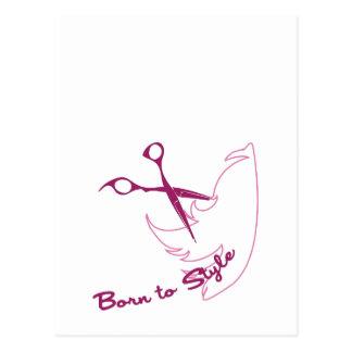 Born To Style Postcard