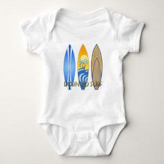 Born To Surf Baby Bodysuit