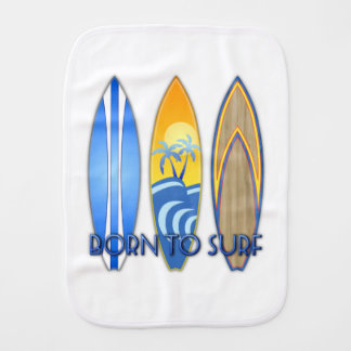 Born To Surf Burp Cloth