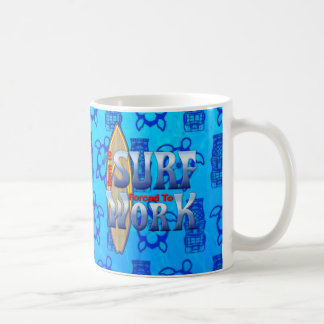 Born To Surf Forced To Work Coffee Mug