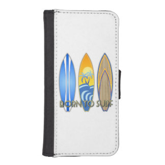 Born To Surf iPhone SE/5/5s Wallet Case