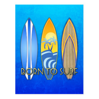 Born To Surf Postcard