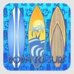 Born To Surf Stickers