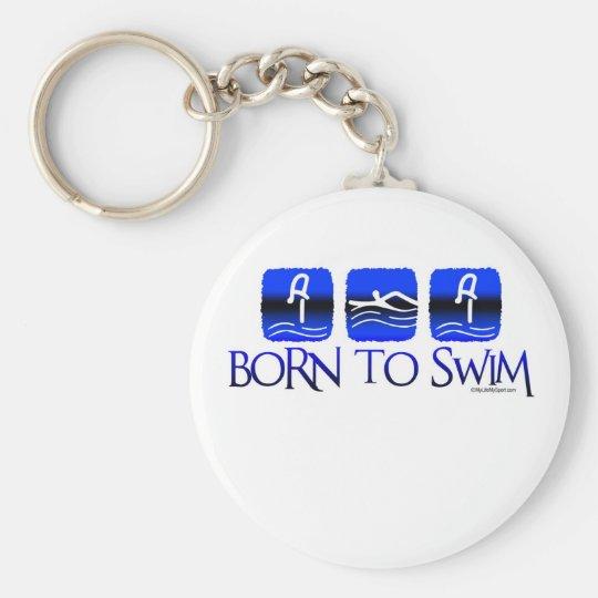BORN TO SWIM KEY RING
