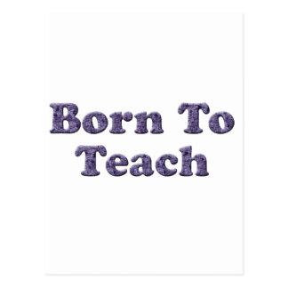 Born To Teach-Purple Postcard