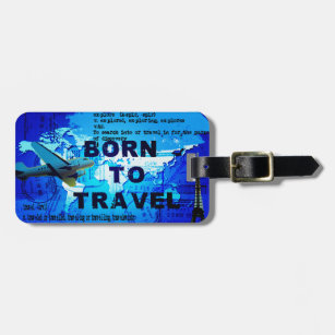 a0232f08a9a6 Born Luggage Tags & Bag Tags | Zazzle UK