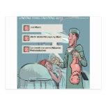 Born To Tweet Funny Cartoon Postcard