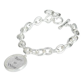 Born to Write Charm Bracelet