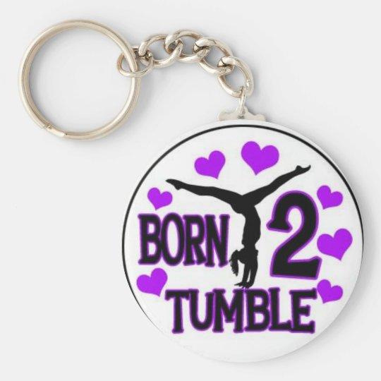 born tumble basic round button key ring
