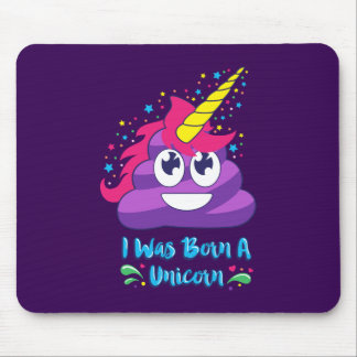 Born Unicorn Emoji Poop Mouse Mat