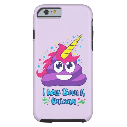 Born Unicorn Poop Emoji Phone Case
