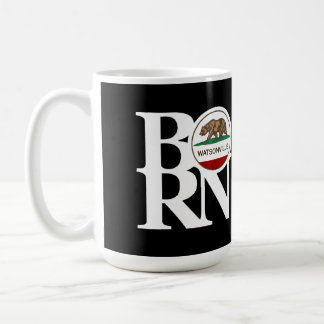 BORN Watsonville 15oz Black Basic White Mug