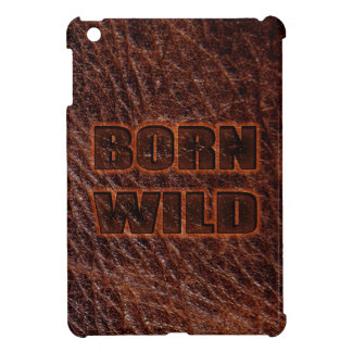 Born Wild faux embossed leather dark brown iPad Mini Cover