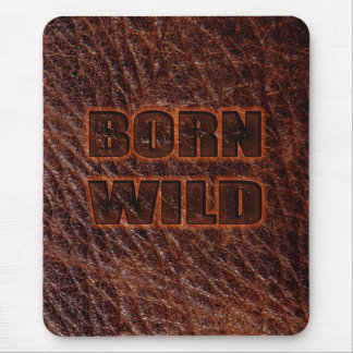 Born wild genuine leather mouse mat