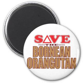 Bornean Orangutan Save Magnet