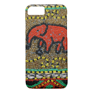 Borneo beaded Elephant Art iPhone 8/7 Case