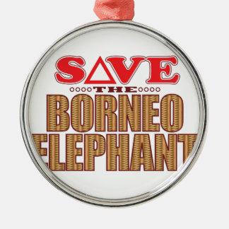Borneo Elephant Save Christmas Ornament