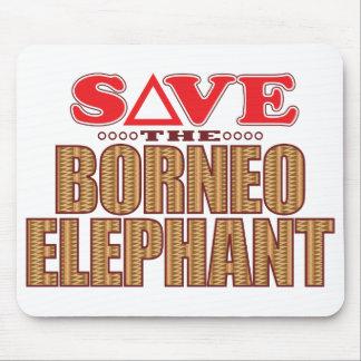 Borneo Elephant Save Mouse Pad