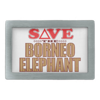 Borneo Elephant Save Rectangular Belt Buckle