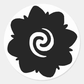 borneo flower round sticker