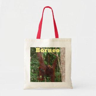 Borneo Orangutan Mother and Baby Tote Bag