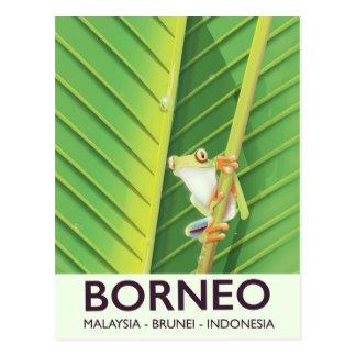 Borneo Poison frog travel poster Postcard