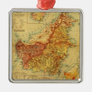 BorneoPanoramic MapBorneo Christmas Ornament