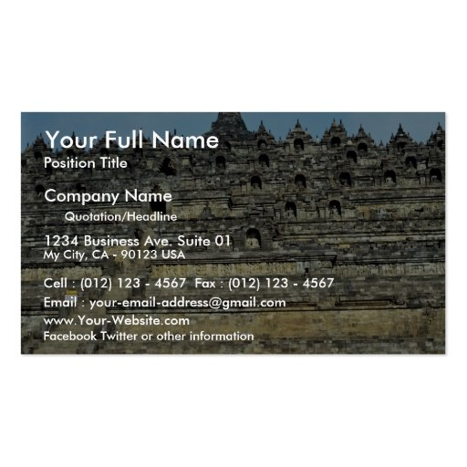 Borobudur, Java, Indonesia Business Card Templates