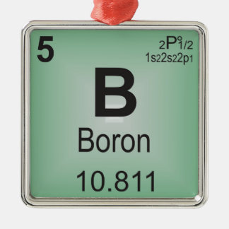 Boron Individual Element of the Periodic Table Christmas Ornament